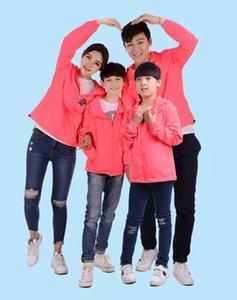 Erkek Kadın Çocuklar Güller Çiçek Baskı Ceketler Aile Giyim Tops Kabanlar Ince Palto Ceketler Aktif Rahat Ince Rüzgarlık Artı Boyutu