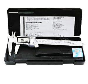 """Calibro digitale LCD 0-150mm 6 """"Acciaio inossidabile Custodia in metallo Calibro digitale Vernier Caliper Caliper elettronico + Scatola originale"""