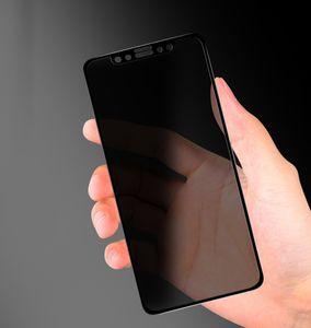 Apple iPhone XS Max XR iphone 12 Pro Max Anti-Spy 3D Full Cover temperli cam Film iphone 11 Pro Max Gizlilik Ekran Koruyucu için