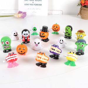 Saltando Halloween Funny Cute Wind-up Toy Pumpkins educativo sorriso faccia giocattoli di plastica per bambini