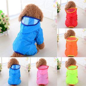 Pet Dog Rain Coat Clothes Puppy Waterproof Jacket Hooded Raincoats Outdoor XS-XL 5 Colors New Styles