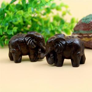 1 coppia 6cm in legno elefante animale in miniatura fata giardino casa case decorazione artigianale micro paesaggistica decor