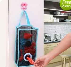 Складной дышащей сетки висит кухня мешки для мусора сумка для хранения хозяйственная сумка сортировка перчатки носки организаторы высокое качество