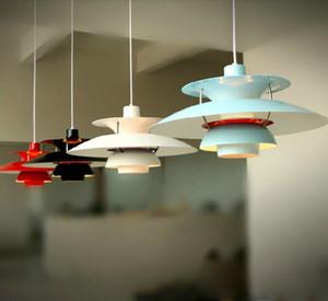 현대 램프 덴마크 루이 Poulsen PH5 펜던트 램프 침실 램프 화이트 블랙 매달려 빛 서스펜션 Droplight 생활 식사