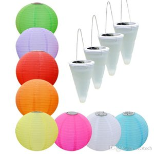 Sloar Lights IP55 Seven colors Lantern White RGB Colourful Automatic Light LED Solar Light lantern lamps chandeliers