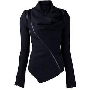 Young17 Femmes Veste Noire À Manches Longues Coton Épais Lâche Top Printemps 2018 Moderne Mode Casual Femmes Filles Femmes Veste