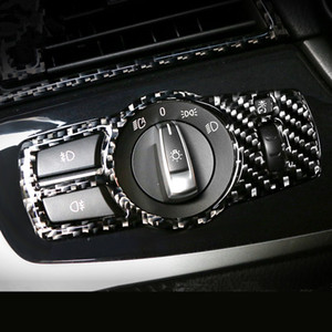 La fibre de carbone cadre interrupteur phares trim couvercle décoratif pour BMW X3 F25 X4 F26 7 series accessoires de voiture intérieur