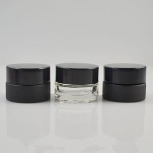 Vide 5g Verre Crème Jar Petites Femmes 5ml Cosmétique Conteneur Noir Clair Mini Rechargeable Bouteille Livraison Rapide