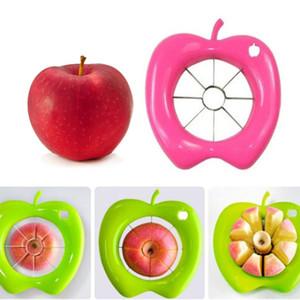 Bequemer Apple-Frucht-Schneider, der Schäler Corer Slicer-Maschinen-Küchen-Gerät Plastiic mischte, mischte mit Edelstahl-Frucht-Schneider