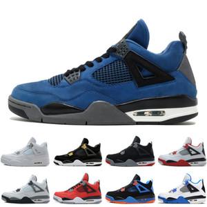 Hot 4 4 s Homens Tênis De Basquete Eminem Pensador Alternativo Motorsports Azul Jogo Real Fire Red Cimento Puro Dinheiro Esportivo Sneakers formadores