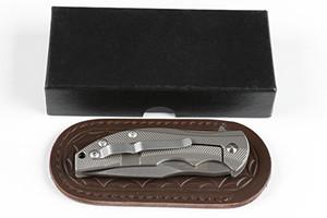 Couteau pliant récent recommandé titane poignée tolérance zéro ZT0606 (D2) Couteau pliant couteau de chasse de camping d2 fox 1 pc port gratuits