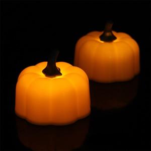 جميل محاكاة اليقطين النمذجة مصباح led التلألؤ شمعة ضوء هالوين عيد الميلاد الديكور الساخن بيع 1 45xh ff
