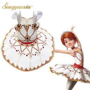 En Yeni Çocuk Balerin Tutu Elbise Askı Gözleme Tutuş Çocuk Klasik Dans Elbise Kız Cadılar Bayramı Partisi Performans Kostüm
