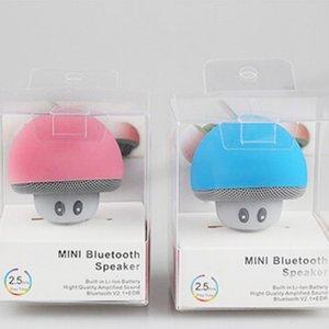 사랑스러운 버섯 블루투스 스피커 자동차 스피커와 함께 빨판 미니 휴대용 무선 핸즈프리 서브 우퍼