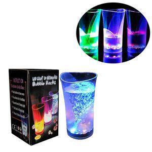 Induttivo Rainbow Color Vase Cup Lampeggiante LED luminoso Birra Wine Cups Occhiali acrilici Acqua potabile Light up Mug