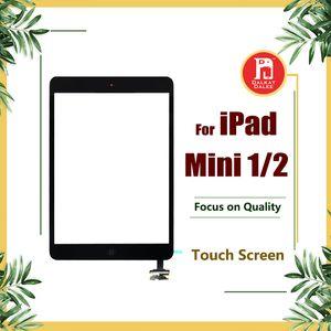 아이 패드 mini1 mini2을위한 아이 패드 미니 1 미니 2 터치 디지타이저 스크린 IC 홈 버튼 플렉스 케이블 전체 어셈블리 교체 터치 스크린
