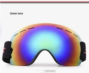 Winter Snowinter mask Snow Sports Gafas a prueba de polvo Polarized Ski Goggles Antiviento antiniebla esférico Big ski glasses glasses