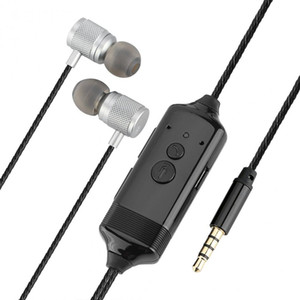 Freeshipping مكالمة هاتفية مسجل سماعة 3.5mm جاك محادثة تسجيل في الأذن سماعة ميني سماعة لفون