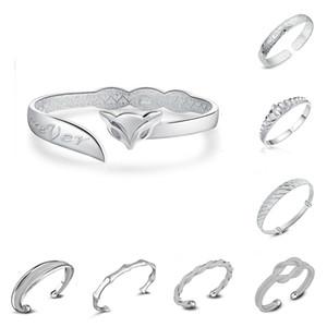 925 Sterling Silber Armreifen Für Frauen Männer Offene Hand Schmuck Bohemian Fashion Armband Chinesischen Stil Verstellbare Manschette Armbänder Armreifen