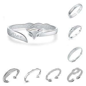 925 brazaletes de plata esterlina para mujeres hombres joyería de mano abierta pulsera de moda bohemia estilo chino pulseras brazaletes ajustables brazaletes