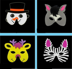 Enfants Eva Cartoon Masque Masques Elephant Party Tiger Mode Kawaii Masques mousse visage plein jour Enfants cadeau jouets de nombreux styles 0 72cl ZZ