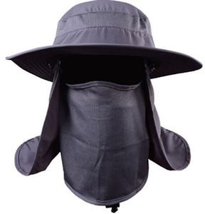 도매 패션 360도 낚시 모자 남성 야외 모자 남성 여름 양산 모자 남성 방수 안티 UV 어부