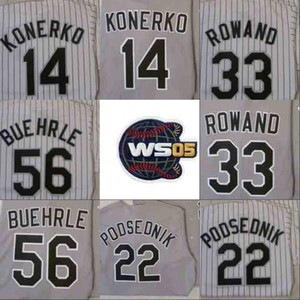 2005 WS 챔피언스 야구 저지 시카고 AJ Pierzynski Paul Konerko Scott Podsednik Joe Crede Frank Thomas Chris Sale Mark Buehrle Jerseys