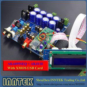 Freeshipping El más nuevo Soft-control AK4495 SEQ + AK4118 + XMOS U8 USB DAC decodificador Junta ensamblada