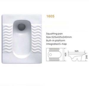 Hockenwanne W. C Toilette 1605 Keramik hock Klosett nach Hause Plumpsklo Deodorant rutschig Bad Sanitärkeramik