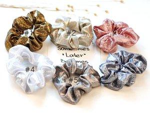 6 Farbe Frauen Mädchen Weihnachten Gold Glitter Mermaid elastische Ring-Haar-Riegel-Zubehör Pferdeschwanz-Halter Hairgummiband Scrunchies