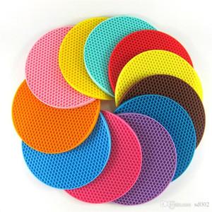 Mutfak Sofra Pedleri Yuvarlak Petek Silikon Pot Mat Anti Haşlanma Fincan Coaster Isıya Dayanıklı Yeni Varış 2 35ww dd