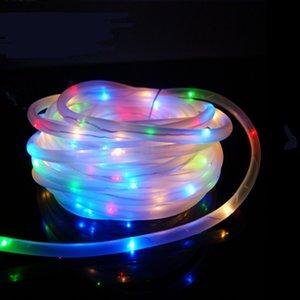 Alta Qualidade 7 M 50 LED Tubo de Corda Solar Led Tira Corda Luz de Fadas Jardim Ao Ar Livre Decoração de Festa de Natal À Prova D 'Água