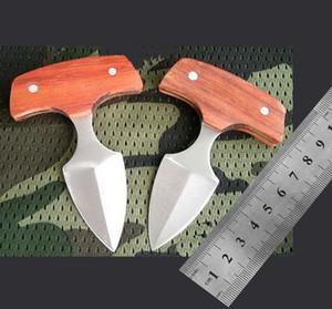 wholesale Wood handle push knife karambit pocket knife Christmas Halloween Holiday gifts pocket knivest Free shippingWood handle push knife