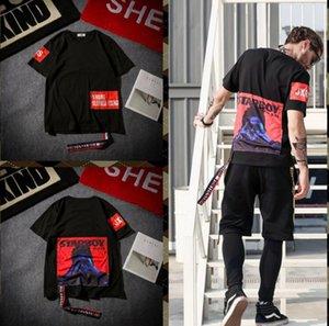 Europäische und amerikanische Flut Marke Männer und Frauen Paar Clown Kurzarm-T-Shirt männlichen Sommer Welle männlichen Studenten Stickerei