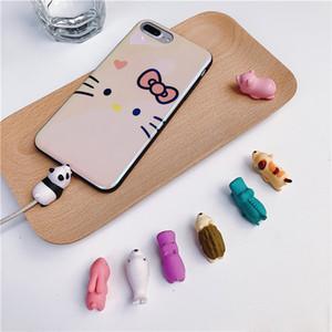 Кабель укус зарядное устройство кабель протектор Смак крышка милый дизайн животных зарядный шнур защитный для iPhone 7 8 X XR XS MAX