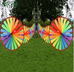 8 UNIDS Colorful Wind Spinner Whirligig Pinwheel resistente a la intemperie de Nylon Jardín Al Aire Libre Juegos de Bodas Patio de Jardín Tienda de Decoración
