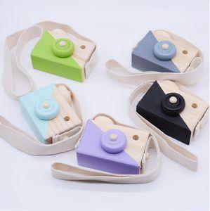 Yeni 3 stil Çocuk Ahşap Kamera Çocuklar Serin Seyahat Mini Oyuncak Bebek Sevimli Güvenli Doğal Doğum Günü Hediyesi Dekorasyon çocuk Odası