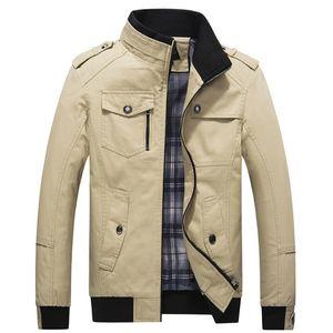 Asstseries Casual erkek Ceket Bahar Ordu Ceket Erkek Mont Kış Erkek Giyim Sonbahar Palto Haki 4XL