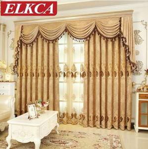 Европейский вышитые синели шторы для гостиной роскошные тюль шторы для спальни китайский занавес окна лечение шторы