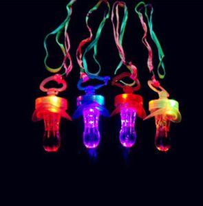 LED Flashing Pacifier Whistle Party Supplies Fun Toy Survival Tool Flash Glow Sticks Bar