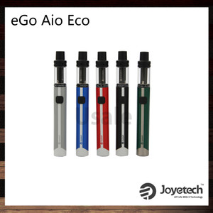 Joyetech eGo AIO ECO 키트 650mah 배터리 1.2ml Atomizer 새로운 ECO 기술 BFHN 0.5ohm 코일 헤드 7 다채로운 LED 100 % 오리지널