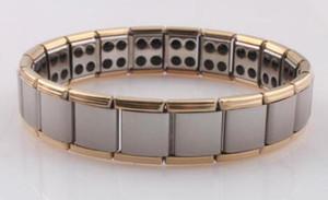 Titanium Energia Germânio Energia Pulseira função de saúde Pulseiras de energia de energia Wrist Band mulheres homens declaração de jóias