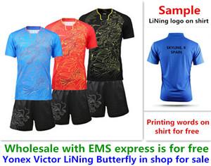 Ücretsiz EMS toptan, ücretsiz metin baskı, yeni badminton gömlek elbise masa tenisi T spor gömlek elbise A13