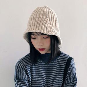2018 Chenille Fisherman Hat Herbst und Wintermütze Korean Chic Folding gestrickte elastische Eimer Hut Hip Hop D18110601