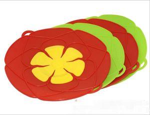 4 cores 26 centímetros derramamento Stopper tampa de cobertura transbordar de salvaguarda Silicone Cooking Flower Pot Panelas Dispositivos da cozinha