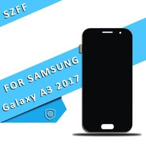 Para Samsung Galaxy A3 2017 A320 Pantalla LCD con pantalla táctil Panel Digitalizador Asamblea Envío gratis DHL