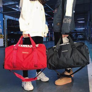 대형 용량 짧은 손 가방을위한 피트니스 요가 스포츠 가방 남자 여자 방수 어깨 훈련 패키지