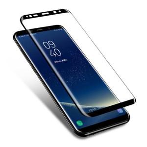 Verre trempé plein écran bord arrondi 3D pour Samsung Galaxy S8 S8 plus film protecteur protecteur pour écran Samsung Galaxy S8 note 8