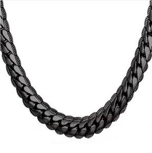 Collar Gargantilla / Largo 9 MM / 6 MM Vintage Punk Negro / Plateado / Dorado Cadena de Hip Hop de Miami Color Regalo para mujeres / Hombres Joyería N08