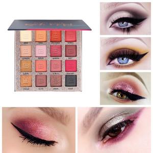 Güzellik Sırlı Kaya Metal 16 Renk Glitter Göz Farı Pallete Mat Işıltılı makyaj Paleti Aydınlık Göz farı Paleti